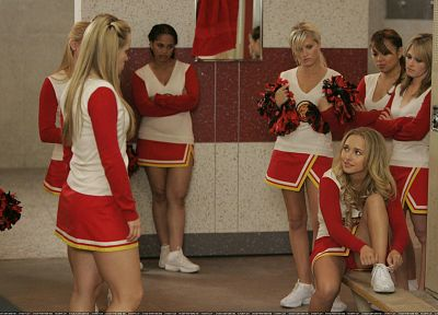 blondes, women, actress, Hayden Panettiere, celebrity, cheerleaders, locker room - random desktop wallpaper
