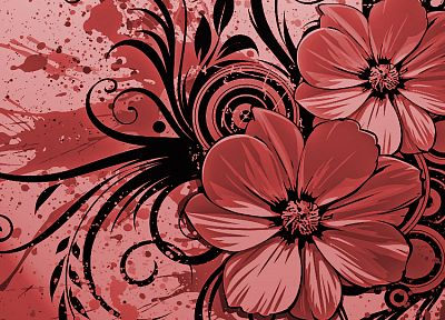 abstract, flowers - related desktop wallpaper