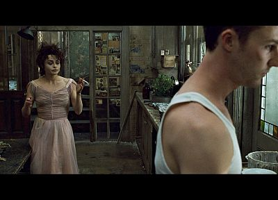 Fight Club, Edward Norton, screenshots, Helena Bonham Carter, Marla Singer - desktop wallpaper