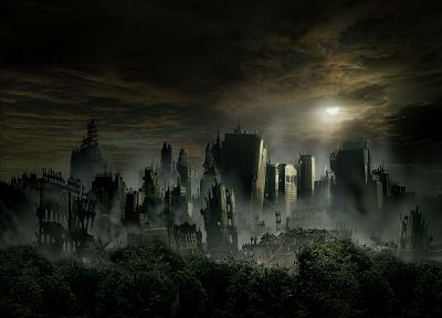 cityscapes, post-apocalyptic, architecture, buildings, artwork - desktop wallpaper