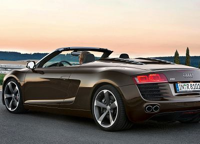 cars, Audi R8, Audi R8 V12, German cars - random desktop wallpaper