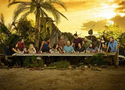 Lost (TV Series), The Last Supper, television cast - random desktop wallpaper