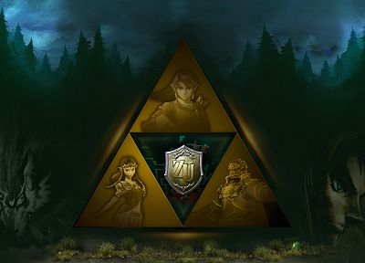 Link, triforce, The Legend of Zelda - random desktop wallpaper