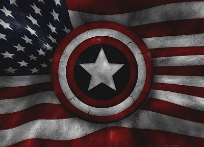 Captain America, Marvel Comics, American Flag - random desktop wallpaper