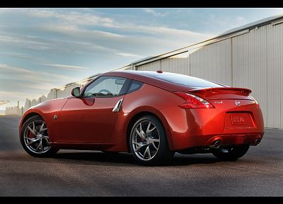 red, cars, Nissan 370Z, magma - random desktop wallpaper