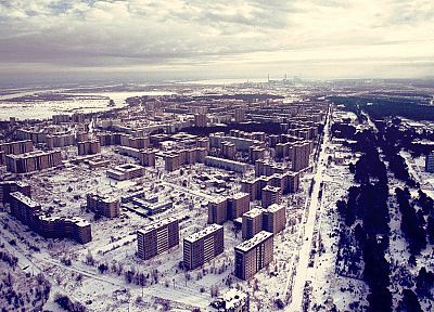 winter, snow, Pripyat, Chernobyl, abandoned city, cities - related desktop wallpaper