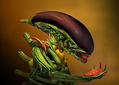 vegetables, Alien - desktop wallpaper
