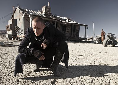 tattoos, movies, wastelands, motorbikes, Paul Bettany, Priest (movie) - desktop wallpaper