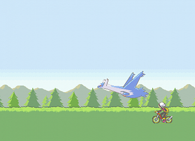 Pokemon, video games, vehicles, Latios, Brendan - desktop wallpaper