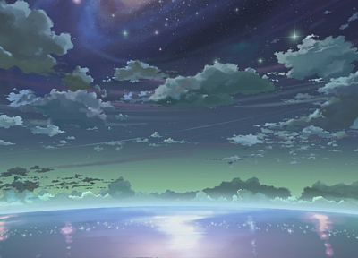 stars, Makoto Shinkai, 5 Centimeters Per Second - random desktop wallpaper