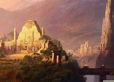 fantasy art, temples, TagNotAllowedTooSubjective - related desktop wallpaper
