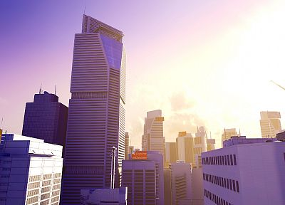 cityscapes, Mirrors Edge, architecture, buildings - desktop wallpaper