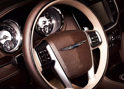series, car interiors, steering wheel, Chrysler 300 - related desktop wallpaper