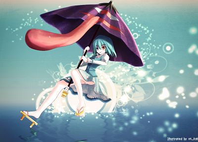 video games, Touhou, umbrellas, Tatara Kogasa - desktop wallpaper
