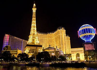 cityscapes, Las Vegas, night sky - desktop wallpaper