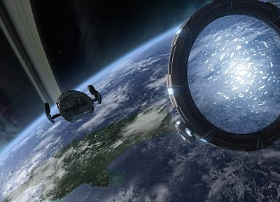 outer space, Earth, Stargate - related desktop wallpaper