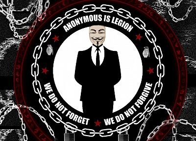 Anonymous, We are Legion - random desktop wallpaper