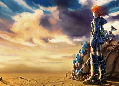 soft shading, Nausicaa of the Valley of the Wind - random desktop wallpaper