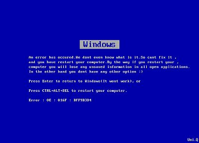 error, Microsoft, Microsoft Windows, Blue Screen of Death - random desktop wallpaper