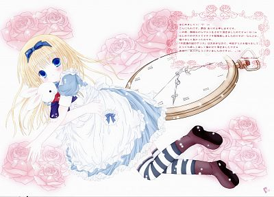 Alice in Wonderland, Alice (Wonderland), striped legwear - random desktop wallpaper