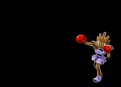 Pokemon, HItmonchan, simple background, black background - desktop wallpaper