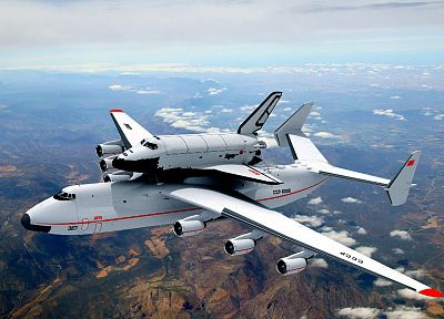 aircraft, Soviet, Space Shuttle, vehicles, Antonov An-225, Buran shuttle - related desktop wallpaper