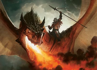 dragons, Magic: The Gathering, Jason Chan - random desktop wallpaper