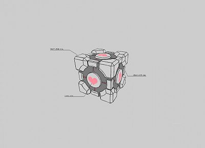 Valve Corporation, Portal, Companion Cube - desktop wallpaper