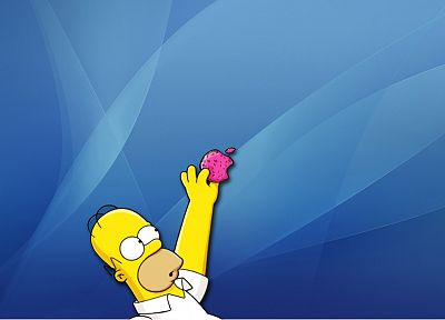 Apple Inc., Mac, Homer Simpson, donuts, The Simpsons - random desktop wallpaper