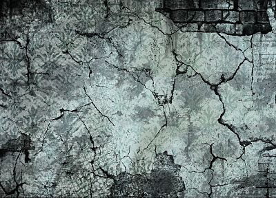 vintage, wall, gray, textures, digital art - desktop wallpaper