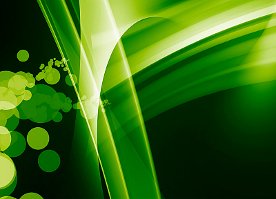 green, abstract - desktop wallpaper