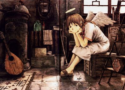 Haibane Renmei, rakka, seedling, soft shading - random desktop wallpaper