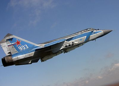 aircraft, MIG-31 Foxhound, Mikoyan-Gurevich, Russian Air Force - desktop wallpaper