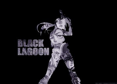 Black Lagoon, Revy, simple background - random desktop wallpaper
