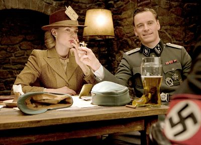 Nazi, film, Inglorious Basterds, cigarettes, Michael Fassbender - desktop wallpaper