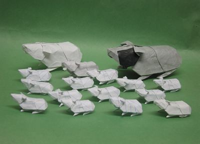 paper, origami, guinea pigs, guinea pig - related desktop wallpaper