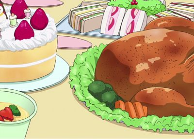food, anime, Turkey bird, cakes - related desktop wallpaper