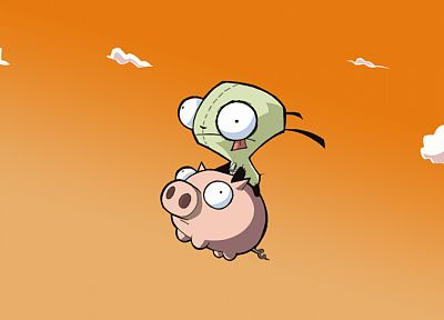 Invader Zim, pugs, pigs, Gir - related desktop wallpaper