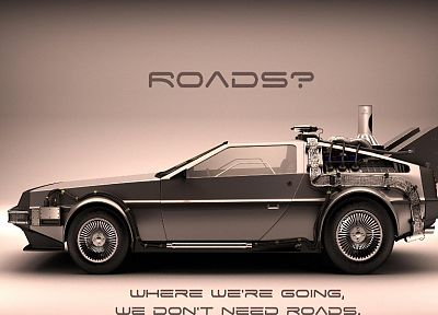Back to the Future, DeLorean DMC-12 - random desktop wallpaper