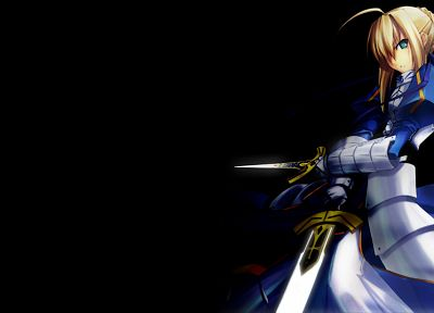 Fate/Stay Night, Type-Moon, Saber, simple background, Fate series, Shingo (Missing Link) - related desktop wallpaper