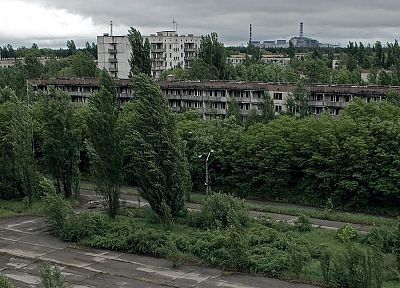 landscapes, ruins, architecture, Pripyat, Chernobyl - related desktop wallpaper