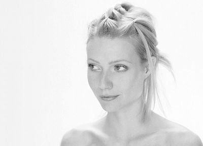 grayscale, Gwyneth Paltrow, monochrome - random desktop wallpaper