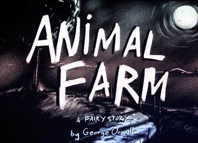 Animal Farm, books, George Orwell, book covers - desktop wallpaper