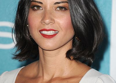 women, red, Olivia Munn, freckles - related desktop wallpaper