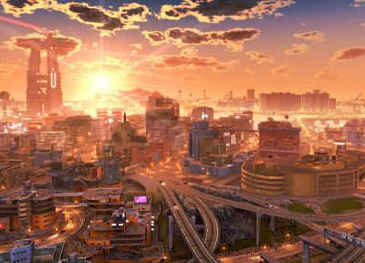 cityscapes, futuristic, buildings, artwork - desktop wallpaper