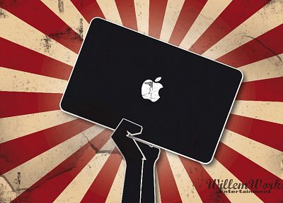 Apple Inc., funny, logos - desktop wallpaper