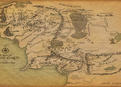 fantasy, The Lord of the Rings, maps, Middle-earth - random desktop wallpaper