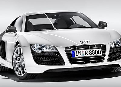 cars, Audi, Audi R8, white cars, German cars - related desktop wallpaper
