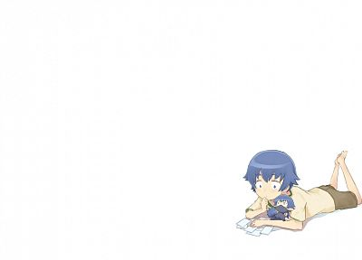 Baka to Test to Shoukanjuu, simple background, white background, Tsuchiya Kouta - desktop wallpaper