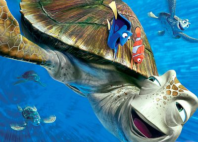 Pixar, turtles, Finding Nemo, clownfish - random desktop wallpaper